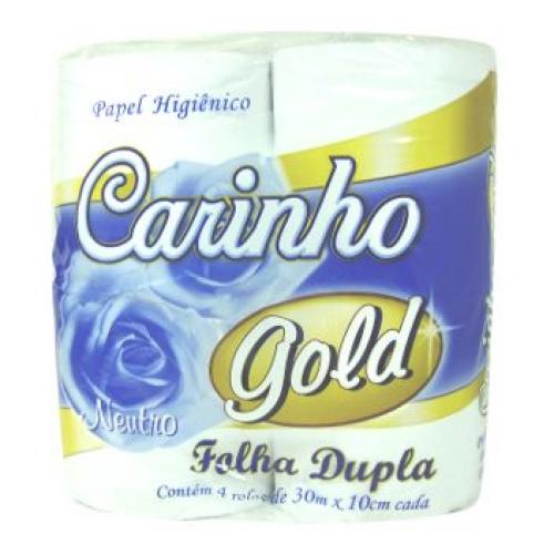 PAPEL HIG. CARINHO GOLD FOLHA DUPLA (FARDO C/64)